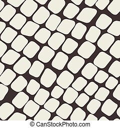 Seamless brown pattern with paving stone - Seamless vector...