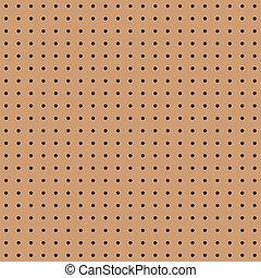 Seamless brown peg board texture pattern