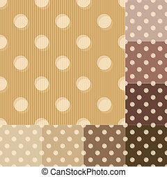 seamless brown polka dots pattern