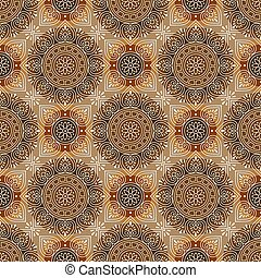 Seamless brown royal floral background