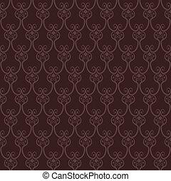 Seamless brown wallpaper pattern.