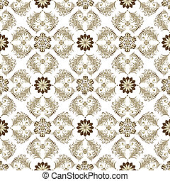 Seamless brown-white vintage pattern