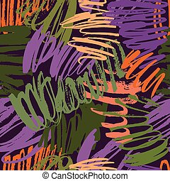 Seamless brush strokes pattern - Modern grunge brush ...