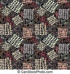 Seamless brushpen textile doodle pattern grunge texture. ...