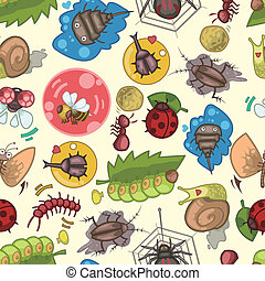 seamless bug pattern  - seamless bug pattern