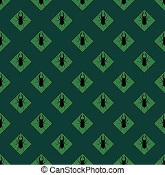 Seamless bug pattern vector illustration.