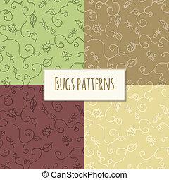 Seamless bugs pattern