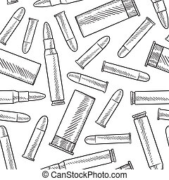 Seamless bullet background - Doodle style seamless bullets...