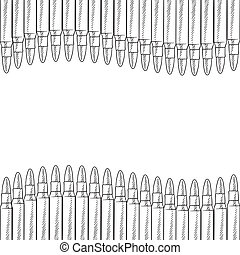 Seamless bullets border - Doodle style seamless bullet...