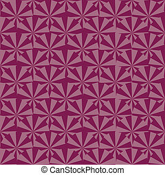 light and dark maroon triangles spin around a blocky pinwheel vector image