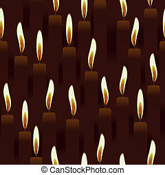seamless burning candle, church background - seamless...