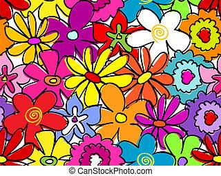 Seamless busy flower pattern