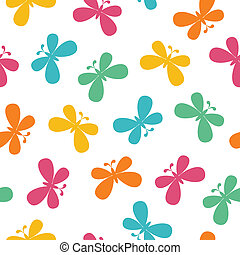 Seamless butterflies pattern