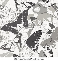 Seamless butterfly silhouettes
