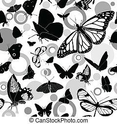 Seamless buttetflies