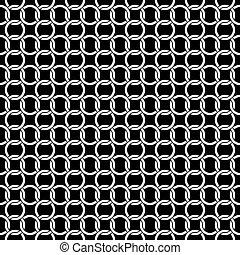 seamless, círculo, cadena, interlink, patrón, plano de fondo, textura