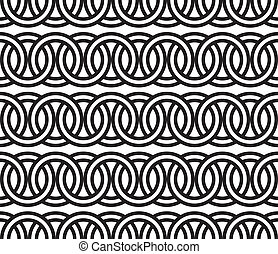 seamless, círculo, cadena, patrón, backg