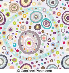 seamless, círculo, plano de fondo, seamless, patrón, con, redondo, formas