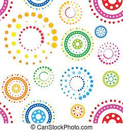 seamless, círculos, padrão