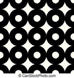 seamless, círculos, patrón
