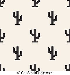 seamless cactus pattern background