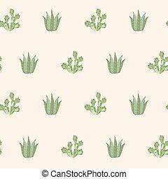 seamless cactus pattern