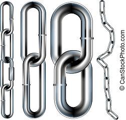 seamless, cadena, vector, patrón