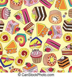 seamless cake pattern