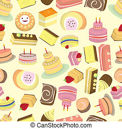 seamless Cakes pattern