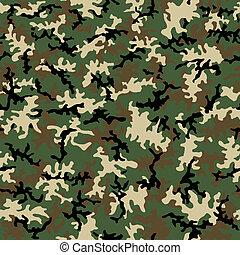 Seamless Camo Pattern - A seamless pattern of woodland ...