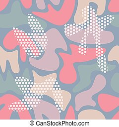 Seamless camouflage color pattern