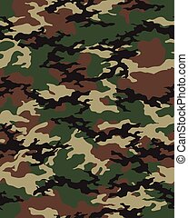 Seamless camouflage pattern - Fashionable camouflage pattern...