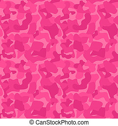 Seamless Camouflage Pattern For Girls. Tiled Texture, Background. Vector Illustration