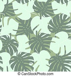 Seamless camouflage pattern of palm leaf green.eps