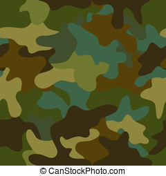 Seamless camouflage pattern - vector summer camouflage...
