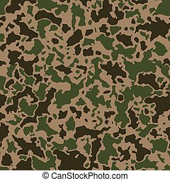 Seamless camouflage pattern with mosaic of abstract stains....