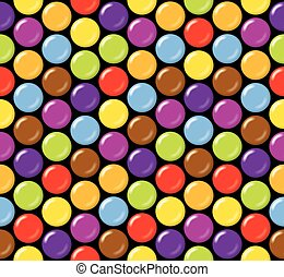 Seamless candy background pattern.