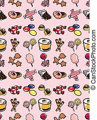 seamless candy pattern,cartoon vector illustration