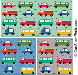 seamless car pattern