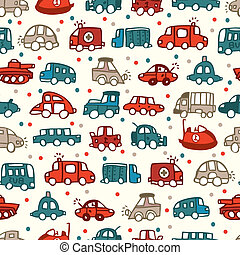 seamless car pattern