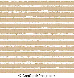 Seamless stripes pattern in white against cardboard paper background.