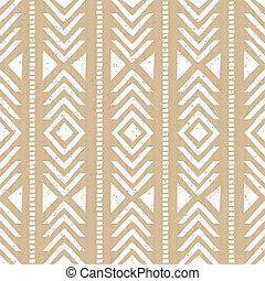 Seamless Cardboard Paper Tribal Bac - Seamless tribal aztec...