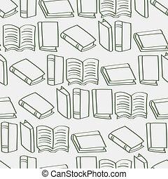 Seamless Cartoon Book Outline backg - A seamless background...