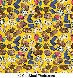 seamless cartoon casion pattern