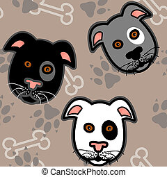 Seamless cartoon dog pattern