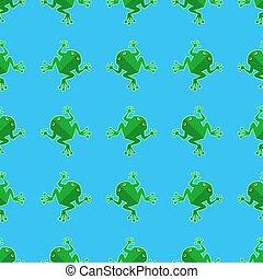 Seamless Cartoon Frog Pattern