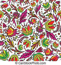Seamless cartoon hand-drawn pattern
