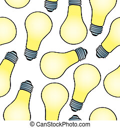 Seamless Cartoon Light Bulb Pattern