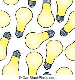 Seamless Cartoon Light Bulb Pattern