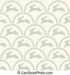 seamless cartoon rabbit pattern